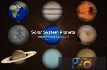 Solar System Planets T73VXFQ 6