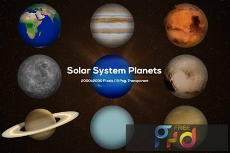 Solar System Planets T73VXFQ 1