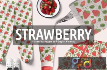 Strawberry Seamless Pattern And Graphic Element GLVZX54 4