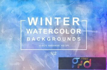 Winter Watercolor Backgrounds Vol.2 SQ2EW8