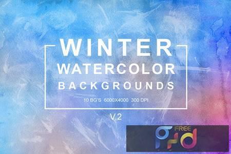 Winter Watercolor Backgrounds Vol.2 SQ2EW8 1