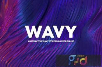 Abstract 3D Wavy Striped Backgrounds LV8GV8T 11