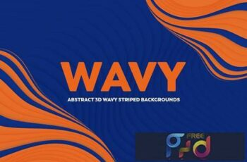 Abstract 3D Wavy Striped Backgrounds 56UCW62 10