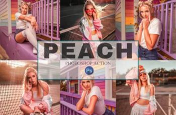 6 Peach Photoshop Actions, ACR, LUT 4220680 3