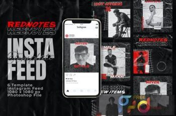 Rednotes Instagram Feed Post Template N4MLXEA 4