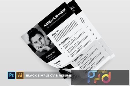 Black Simple - CV & Resume DBV4R5N 1