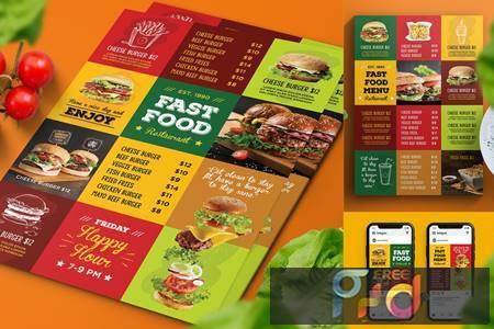 Fast Food Menu Flyer 5AHY4QS 1
