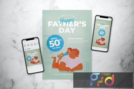Fathers Day Flyer Set CTG393A 1