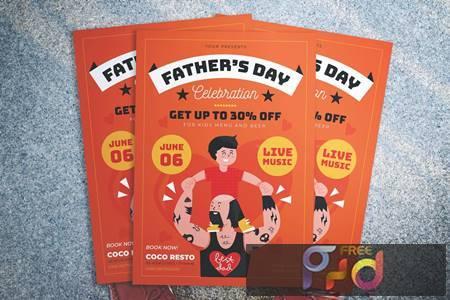 Fathers Day Promotion Flyer VD28PJ8 1