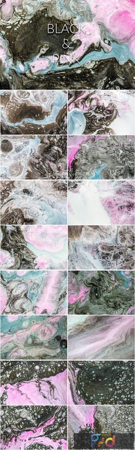 Handmade Liquid Paint - Black&Pink Vol.2 4063799 1
