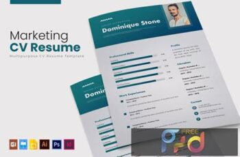 Marketing - CV & Resume UKBQSY7 7