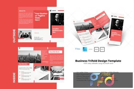Maroon Trifold Brochure Design Template 4063961 1