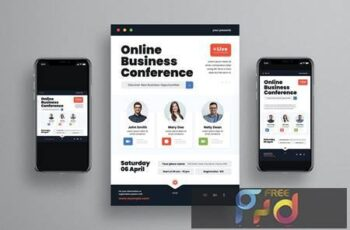 Online Business Conference Flyer Set 6CLLEAX 3