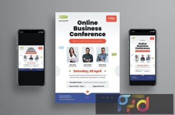 Online Business Conference Flyer Set ED762V4 5