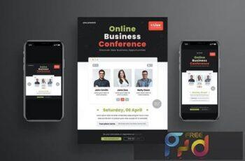 Online Business Conference Flyer Set UMT5TA5 6