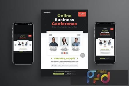 Online Business Conference Flyer Set UMT5TA5 1