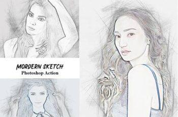 Modern Sketch Photoshop Action 4934546 2