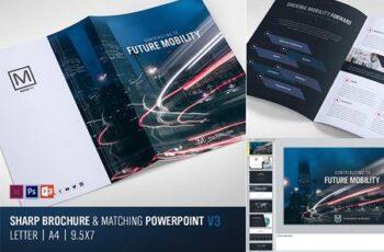 Sharp Modern Brochure and PowerPoint 4840246 16