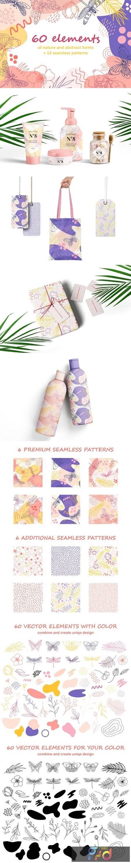 Organic natural seamless pattern set 4372345 1