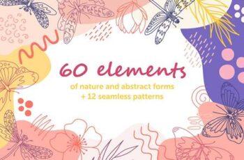 Organic natural seamless pattern set 4372345 16