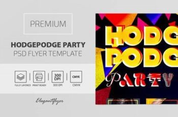 Hodgepodge Party - Premium PSD Flyer Template 115598 6