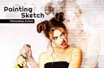 Painting Sketch Photoshop Action 26119936 5