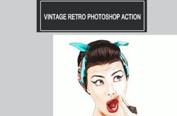 Vintage Retro Photoshop Action 26092331 2