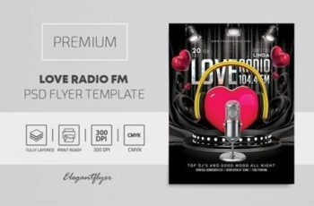 Love Radio FM - Premium PSD Flyer Template 115447 5