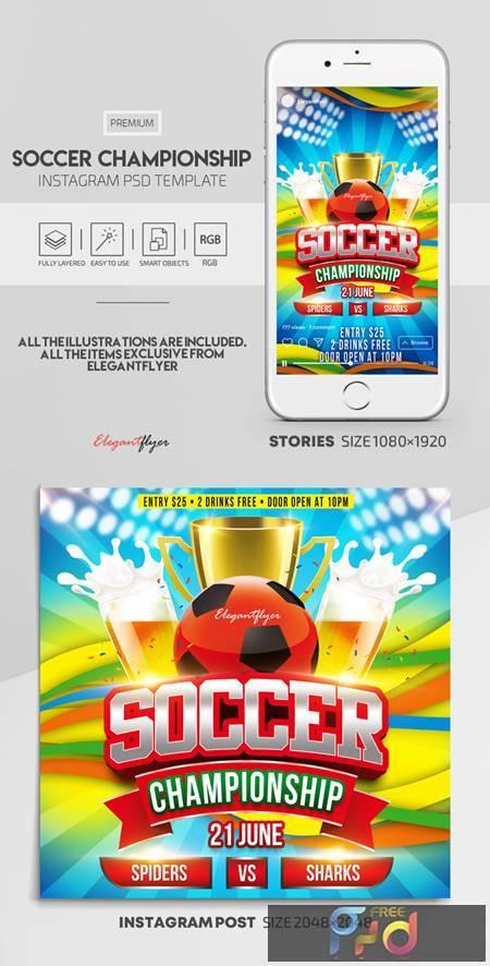 Soccer Championship - Premium PSD Flyer Template 115886 1
