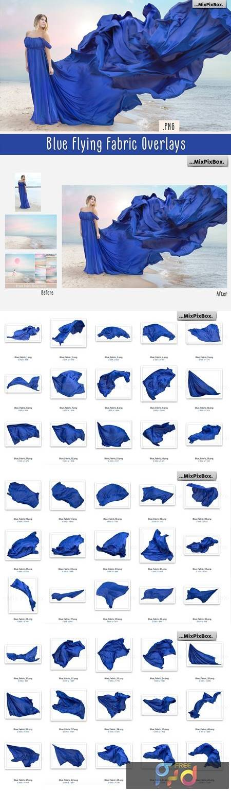 Blue Flying Fabric Overlays 5013308 1