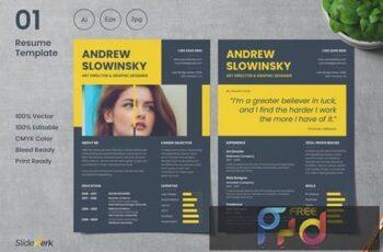 Professional CV Resume Template 01 - Slidewerk 33SPB6H 3
