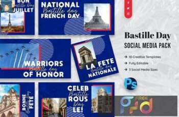 Bastille Day Social Media Template 8ZFQGGH 7