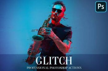 Glitch Photoshop Action 4870269 7