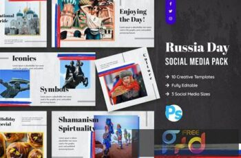 Russia Day Social Media Template AYHAFE2 6