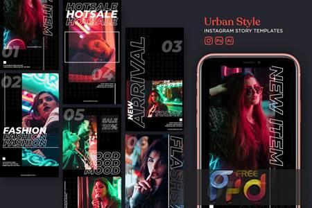 Urban Style Instagram Story Template M2B3N4B 1