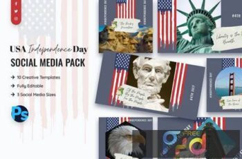 USA Independence Day Social Media Template WEMPR3D 16