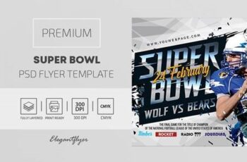 Super Bowl – Premium PSD Flyer Template 116702 2
