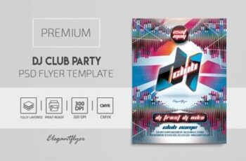 Dj Club Party – Premium PSD Flyer Template 116241 4