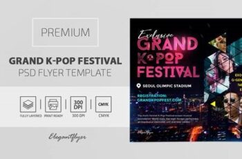 Grand K-Pop Festival – Premium PSD Flyer Template 116783 4
