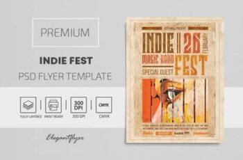 Indie Fest – Premium PSD Flyer Template 116134 5