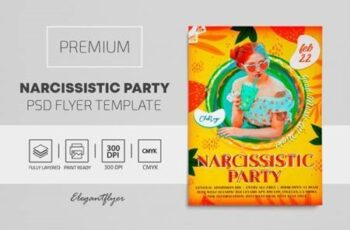 Narcissistic Party – Premium PSD Flyer Template 116202 4