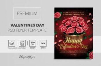 Valentines Day – Premium PSD Flyer Template 116674 7