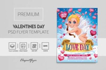 Valentines Day – Premium PSD Flyer Template 116484 4