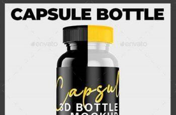 Capsule Bottle 3D Mockup Pharmacy Medicine 26494061 3