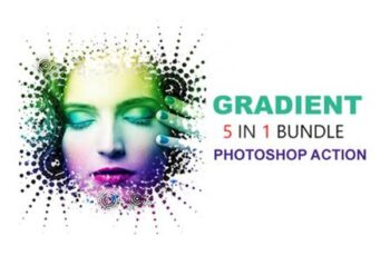 5 in 1 Gradient Photoshop Actions Bundle 4318050 5
