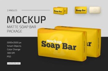 Matte Soap Bar Package Mockup Set 5009179 6