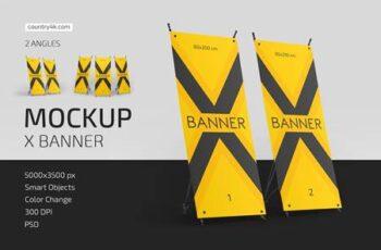 X Banner Mockup Set 5003133 3