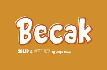 Becak - Solid & Outline Font 5005839 7