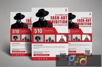 Fashion Art Exhibition Poster Flyer SGC5W6M 3