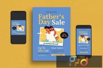 Fathers Day Flyer Set LMZ4WHJ 3